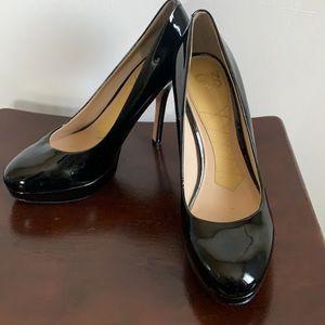 Black Patent Leather Shiny Tall Stilettos Size 8M